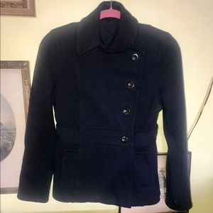 Marc by Marc Jacobs XS Wool Navy Pea Coat